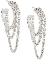 Wouters & Hendrix - Chain Hoop Earrings - Lyst