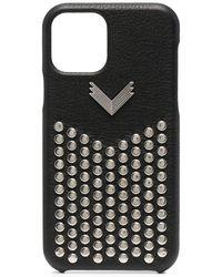 Manokhi Cover per iPhone 11 Pro con borchie - Nero