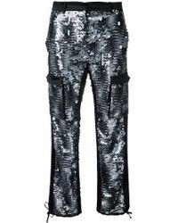 Redemption - Sequin Embellished Cargo Trousers - Lyst
