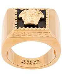 Versace Ring Met Medusa - Metallic