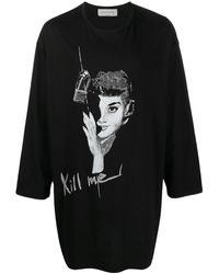 Yohji Yamamoto グラフィック Tシャツ - ブラック