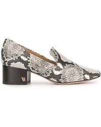 Veronica Beard Baylie Snake Print Loafers - Black