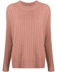 N.Peal Cashmere Cable-knit Cashmere Sweater - Brown