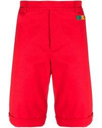 Moschino Шорты-бермуды С Логотипом - Красный