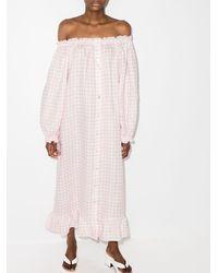 Sleeper チェック ドレス - ピンク