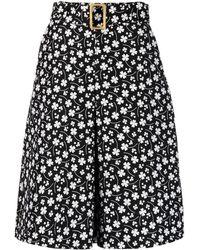 Boutique Moschino フローラル スカート - ブラック