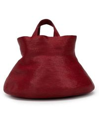 Rosie Assoulin Bucket Shaped Tote - Red