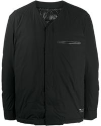 Attachment ノーカラー パデッドジャケット - ブラック