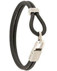 Giorgio Armani Lobster Closure Bracelet - Black