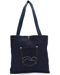 Societe Anonyme Front Pocket Tote Bag - Blue