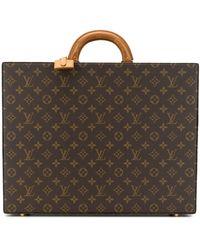 Louis Vuitton Mallette à motif monogrammé - Marron