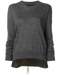 Uma Wang distressed-hem fitted sweater Geniue Stockist Online O1pVf