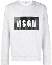 MSGM Logo Box Sweatshirt - Серый
