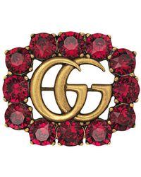 Gucci Broche Met Dubbele G - Rood