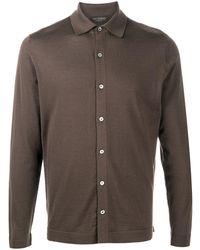 Dell'Oglio Рубашка Тонкой Вязки - Коричневый