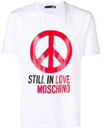 "Love Moschino - ""still In Love"" Printed T-shirt - Lyst"