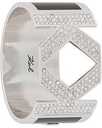 Karl Lagerfeld - Bracelet manchette Double K - Lyst
