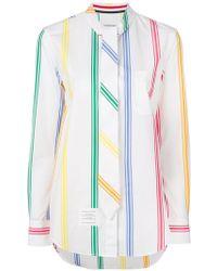 Thom Browne - Striped Tied Shirt - Lyst