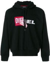 DIESEL - Kapuzenpullover mit Logo - Lyst