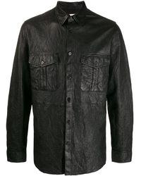 Zadig & Voltaire テクスチャード レザーシャツ - ブラック