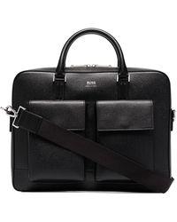 BOSS by Hugo Boss Logo-print Briefcase Bag - Black