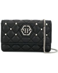 Philipp Plein Studded Quilted Leather Bag - Black