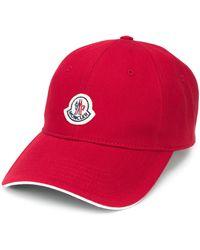 Moncler Кепка С Нашивкой-логотипом - Красный