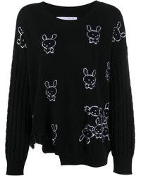 Natasha Zinko Embroidered Cashmere Sweater - Black
