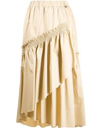 Twin Set Layered Midi Skirt - Natural