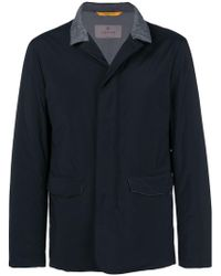 Canali - Lightweight Contrasting Collar Jacket - Lyst