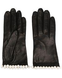 Manokhi Pearl-embellished Short Gloves - Black