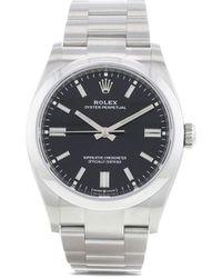 Rolex Наручные Часы Oyster Perpetual Pre-owned 36 Мм 2020-го Года - Черный