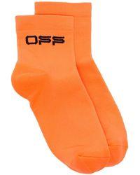 Off-White c/o Virgil Abloh Socken mit Logo-Stickerei - Orange