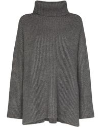 Le Kasha Oversized Turtleneck Cashmere Sweater - Gray