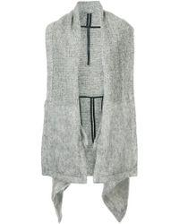 Barbara I Gongini Oversized Cape Jacket - Gray