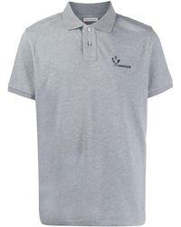 Moncler ロゴ ポロシャツ - グレー