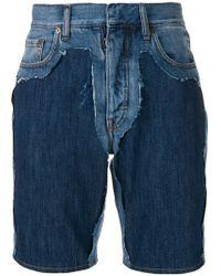 Maison Margiela Fitted Denim Shorts - Blue