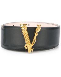 Versace Ремень С Логотипом V-barocco - Черный