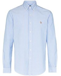 Polo Ralph Lauren Camicia Oxford a righe - Blu