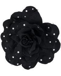 Philosophy Di Lorenzo Serafini Flower Appliqué Brooch - Black