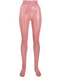Henrik Vibskov Flag Print High-waisted Tights - Red