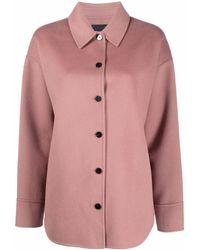 Theory ボタン シャツジャケット - ピンク