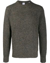Aspesi Melange Crew Neck Sweater - Brown