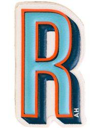 Anya Hindmarch 'r' Sticker - Blue