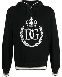 Dolce & Gabbana Худи С Принтом Dg King - Черный