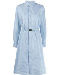 Ralph Lauren Collection Robe-chemise à taille ceinturée - Bleu