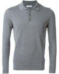 Fashion Clinic Longsleeved Polo Shirt - Grey