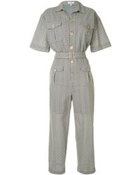 We Are Kindred Bronwyn Embroidered Boilersuit - Green