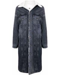 R13 Long-line Denim Jacket - Black