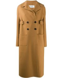 Lanvin Double-breasted Belted Coat - Brown